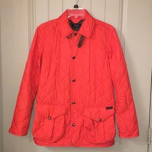 POLO ralph Lauren Orange Quilted Barn Jacket XS
